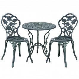 [casa.pro] Záhradná / bistro sada - stolík + 2 x stolička - zelená