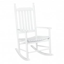 Pohodlná drevená hojdacia stolička - 115 x 62 x 84 cm - biela