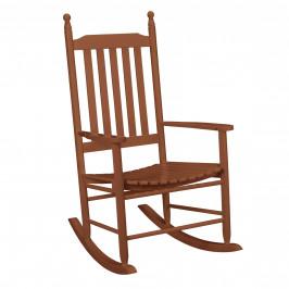 Pohodlná drevená hojdacia stolička - 115 x 62 x 84 cm - tmavo hnedá
