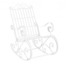 Kovové hojdacie kreslo - 92 x 59 x 90 cm - biele