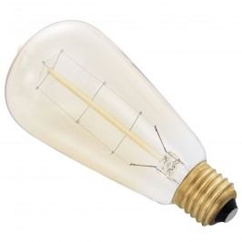 [in.tec]® Antik dekoratívna Edisonova žiarovka - E27 - 230V - teplá biela (2700 K) - ø60 x 140 mm