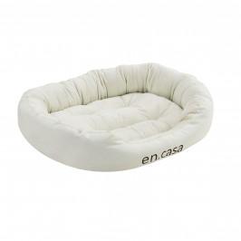 Pelech - pre mačky a psov - s obojstranným vankúšikom - oxford látka / PP-bavlna - 85 x 70 x 23 cm [L] - krémový