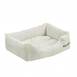 Pelech - pre mačky a psov - s obojstranným vankúšikom - oxford látka / PP-bavlna - 50 x 38 x 17 cm [S] - krémový