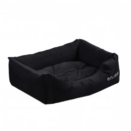 Pelech - pre mačky a psov - s obojstranným vankúšikom - oxford látka / PP-bavlna - 50 x 38 x 17 cm [S] - čierny