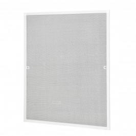 Sieťka proti komárom / hmyzu - s hliníkovým rámom  - 100 x 120 cm - biela