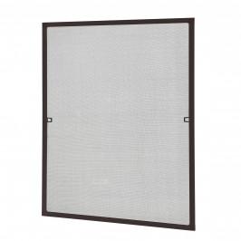Sieťka proti komárom / hmyzu - s hliníkovým rámom  - 130 x 150 cm - hnedá