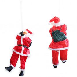 Mikuláš lezúci po rebríku vianočná dekorácia - 180 cm