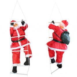Mikuláš lezúci po rebríku - vianočná dekorácia - 90 cm