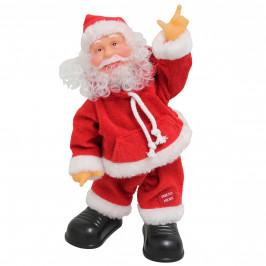 Spievajúci a tancujúci Mikuláš - 31 cm - vianočná dekorácia