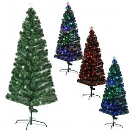 Farebný stromček s optickými vláknami - 210 cm
