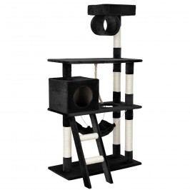 Škrabací strom pre mačky - 70 x 50 x 141 cm - čierny