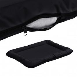 Pelech - pre mačky a psov - so zipsom - oxford látka / PP-bavlna - 80 x 60 cm [L] - čierny