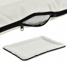 Pelech - pre mačky a psov - so zipsom - oxford látka / PP-bavlna - 100 x 70 cm [XL] - krémový