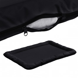 Pelech - pre mačky a psov - so zipsom - oxford látka / PP-bavlna - 100 x 70 cm [XL] - čierny
