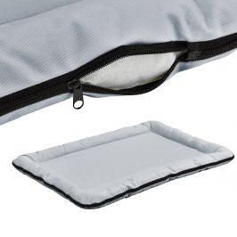 Pelech - pre mačky a psov - so zipsom - oxford látka / PP-bavlna - 100 x 70 cm [XL] - sivý
