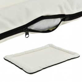 Pelech - pre mačky a psov - so zipsom - oxford látka / PP-bavlna - 120 x 85 cm [XXL] - krémový