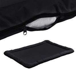 Pelech - pre mačky a psov - so zipsom - oxford látka / PP-bavlna - 120 x 85 cm [XXL] - čierny