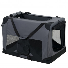 Taška na prepravu zvierat - L - sivá