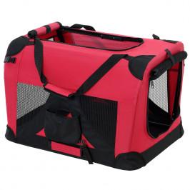 Taška na prepravu zvierat - XXL - červená