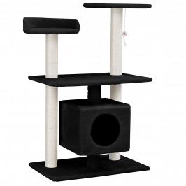 Škrabací strom pre mačky - 60 x 40 x 95 cm - čierny