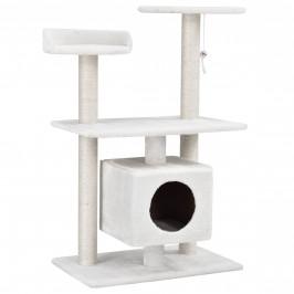 Škrabací strom pre mačky - 60 x 40 x 95 cm - biely