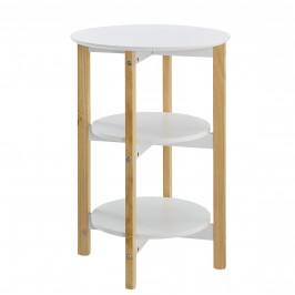 [en.casa]® Okrúhly stolík s poličkami AANT-0345