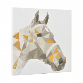 [art.work] Dizajnový obraz na stenu - tlač na pergamenový papier - kôň - napnutý na ráme - 40x40x2,8 cm