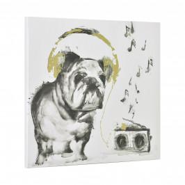 [art.work] Dizajnový obraz na stenu - tlač na pergamenový papier - pes - napnutý na ráme - 40x40x2,8 cm