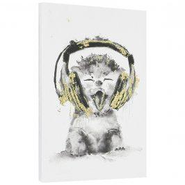 [art.work] Dizajnový obraz na stenu - tlač na pergamenový papier - mačka - napnutý na ráme - 45x30x2,8 cm