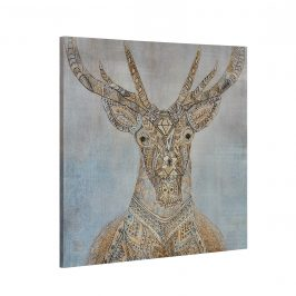 [art.work] Dekoratívny obraz na stenu - jeleň 2 - plátno napnuté na ráme - 80x80x3,8 cm