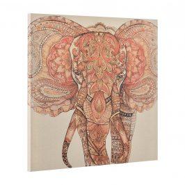 [art.work] Dekoratívny obraz na stenu - slon - plátno napnuté na ráme - 90x90x3,8 cm