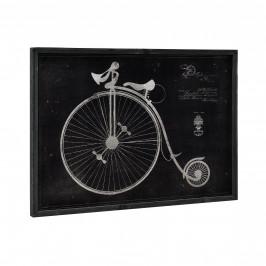 [art.work] Dizajnový obraz na stenu - hliníková doska - historický bicykel (nákres) - zarámovaný - 50x70x2,8 cm