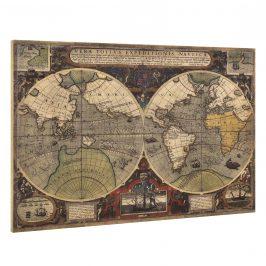 [art.work] Dizajnový obraz na stenu - mapa sveta - zarámovaný - 80x120x3,8 cm