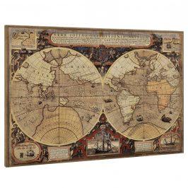 [art.work] Dizajnový obraz na stenu - mapa sveta 2 - zarámovaný - 80x120x3,8 cm