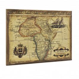 [art.work] Dizajnový obraz na stenu - mapa Afriky - zarámovaný - 60x80x2,8 cm