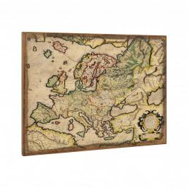 [art.work] Dizajnový obraz na stenu - mapa Európy - zarámovaný - 60x80x2,8 cm