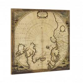 [art.work] Dizajnový obraz na stenu - Severný pól - zarámovaný - 60x60x2,8 cm