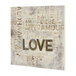 [art.work] Ručne maľovaný obraz - Love - plátno napnuté na ráme - 60x60x2,8 cm