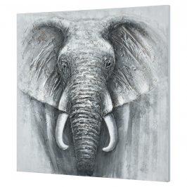 [art.work] Ručne maľovaný obraz - slon 5 - plátno napnuté na ráme - 100x100x3,8 cm