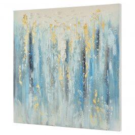 [art.work] Ručne maľovaný obraz - abstraktný vzor - plátno napnuté na ráme - 80x80x3,8 cm