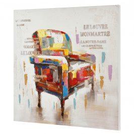[art.work] Ručne maľovaný obraz - hotel - plátno napnuté na ráme - 80x80x3,8 cm