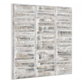 [art.work] Ručne maľovaný obraz - stena - plátno napnuté na ráme - 100x100x3,8 cm