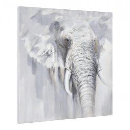 [art.work] Ručne maľovaný obraz - slon 2 - plátno napnuté na ráme - 100x100x3,8 cm