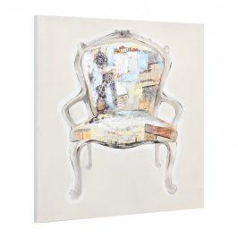 [art.work] Ručne maľovaný obraz - kreslo - plátno napnuté na ráme - 90x90x3,8 cm