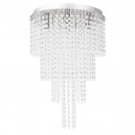 [lux.pro]® Štýlové stropné svietidlo - Venezia - chrómovo-strieborné (5 x G9)