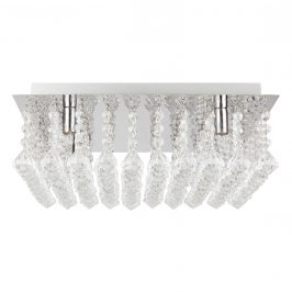 [lux.pro]® Štýlové stropné svietidlo - Glamour - chrómovo-strieborné (4 x G9)