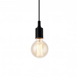 [lux.pro]® Dekoratívna dizajnová design závesná lampa HT169928 - čierna (1 x E27)