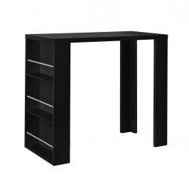 [en.casa]® Elegantný bar so vstavanými policami - 54 x 13,8 x 32,8 cm - čierny
