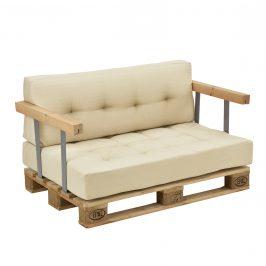 [en.casa]® Paletový nábytok - kompletná sada -model 1 - béžová