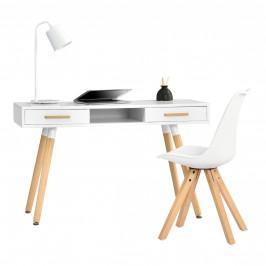 [en.casa]® Dizajnový stôl HTST-3262 so stoličkou HTMS-2852